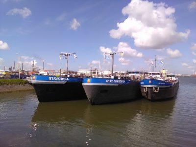 Alle schepen in haven Rotterdam